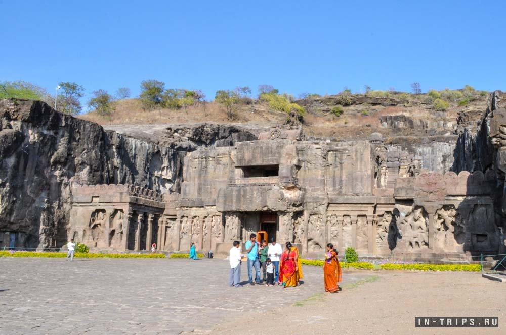 Храм в индии из цельной скалы