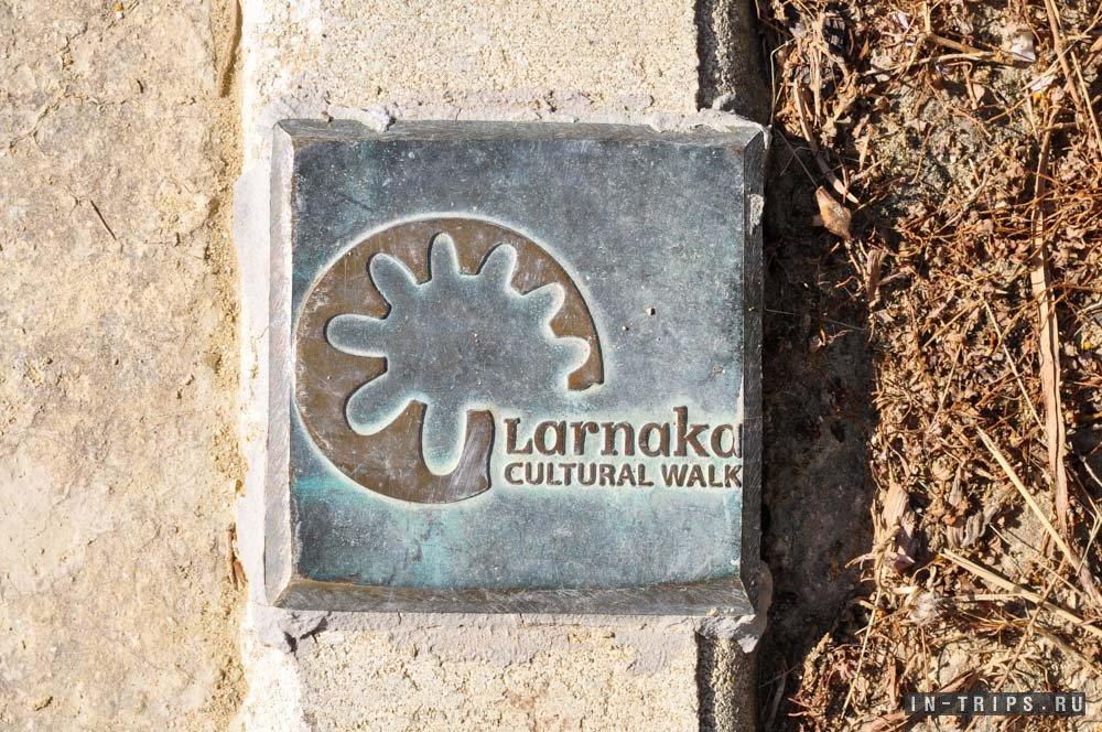 Основные кипрские тропы принято отмечать вот таким вот знаками.