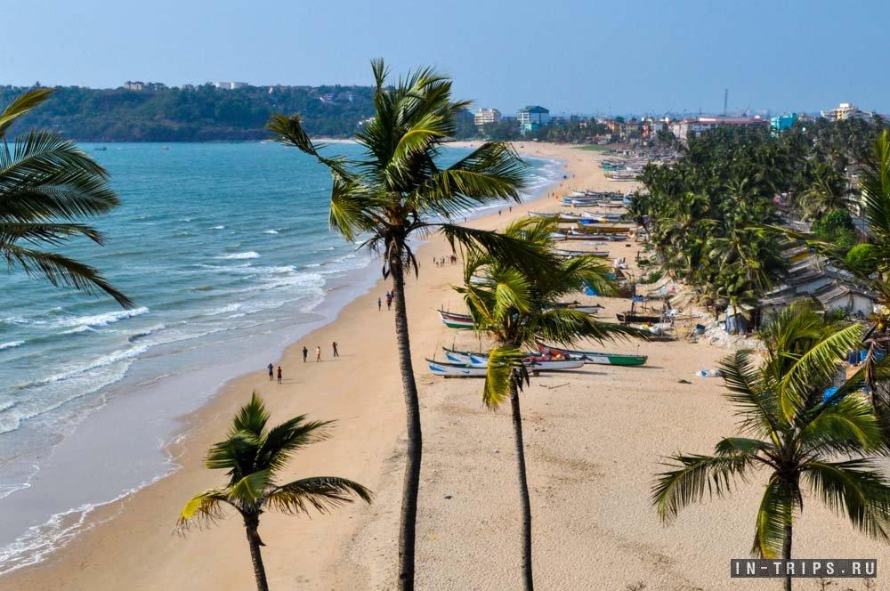 Нетуристический пляж Гоа в городе Васко Да Гама.