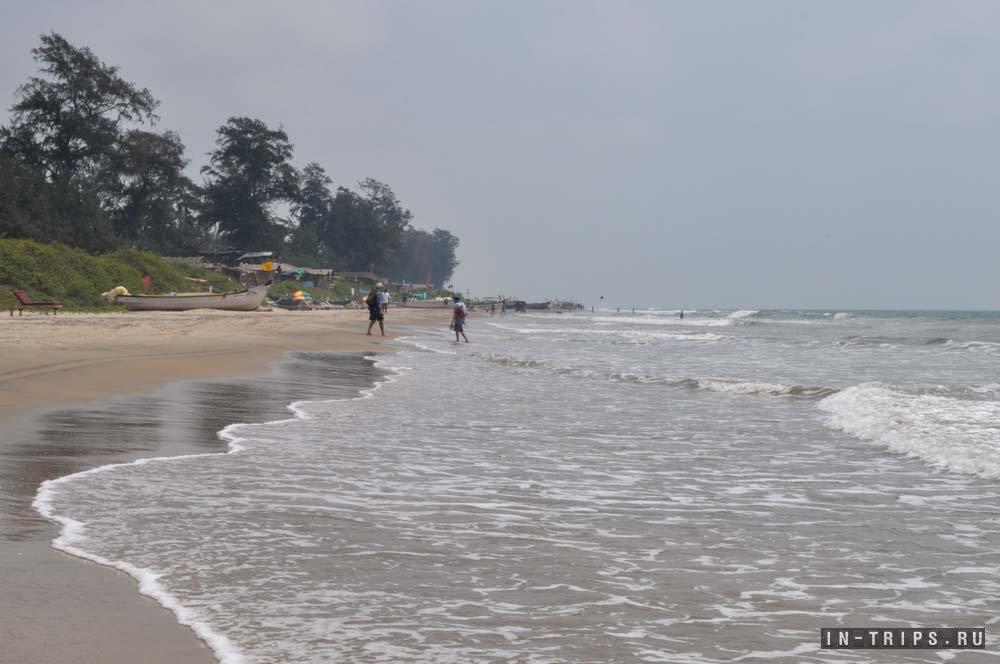 Сезон дождей, пляж Арамболь.